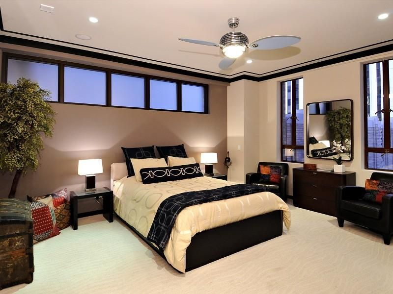 Wall Colors For Dark Furniture Paint Color Elegant Master Bedroom With And Ceiling Fan Lights