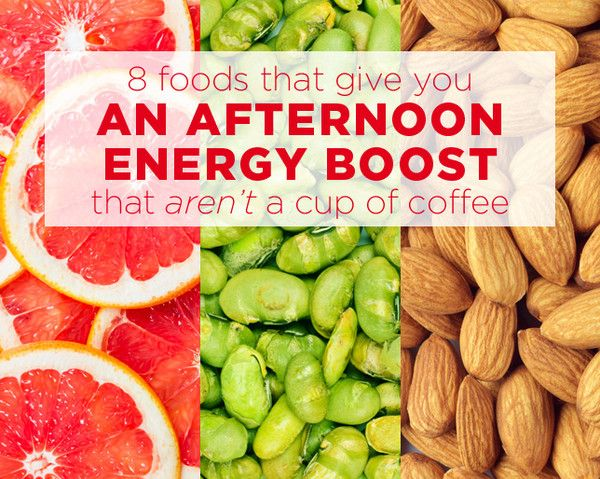8 Foods That Give You An Afternoon Energy Boost That Aren T A Cup Of Coffee Best Foods For Energy Energy Boosting Foods Energy Foods
