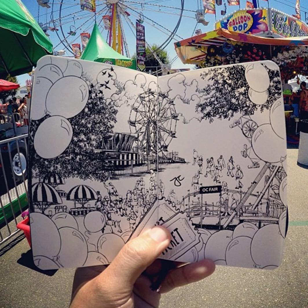 Sketch by @pentasticarts | #abstract #sketch #sketchbook #sketching #art #creative #instagood #love #ferriswheel #fair #pen #graphicart #graphic