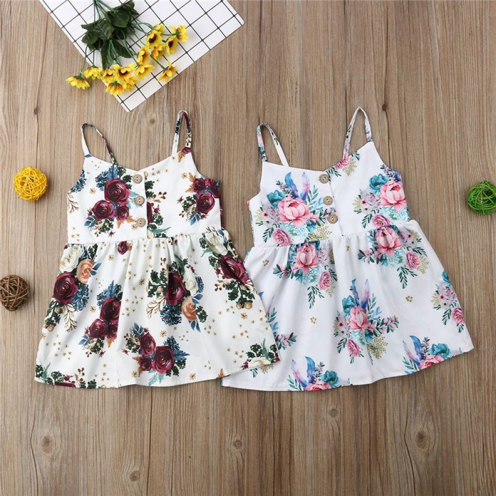 Baby Girl Flower Floral Dress Summer Dress  Baby girl dress, Baby