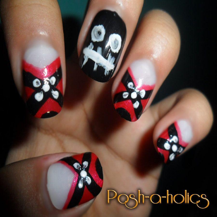 Emo Nail Art | nails for the dark side | Pinterest