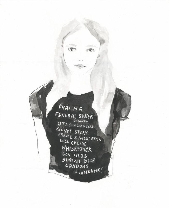 Feminismo, Whisky y Camisetas   Amanda Manitach  #illustration
