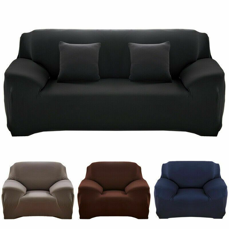 Solid Color Sofa Cover Stretch Seat Couch Cover Love Seat Funiture Slipcovers Us In 2020 Couch Covers Slip Covers Couch Cushions On Sofa