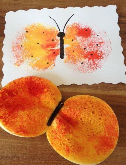 Photo of Vi stemplet vakre sommerfugler ut av svamper. – Diy and Crafts