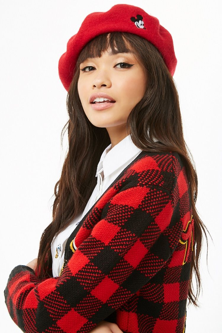 cff50e7f25570 Mickey Mouse Patch Wool Beret