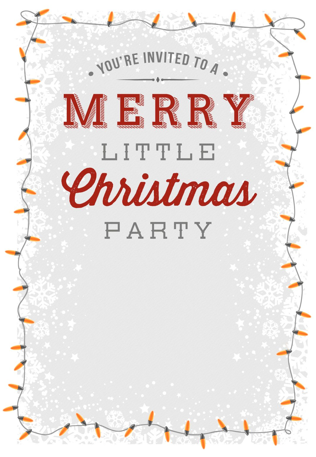 A Merry Little Party  Free Printable Christmas Invitation