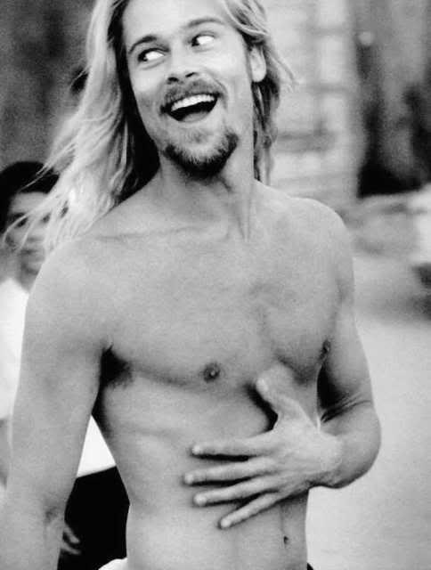 Brad Pitt Long Haired Back In The Day Before He Was A Back Stabbing Chearter Brad Pitt Long Hair Styles Men Gorgeous Men