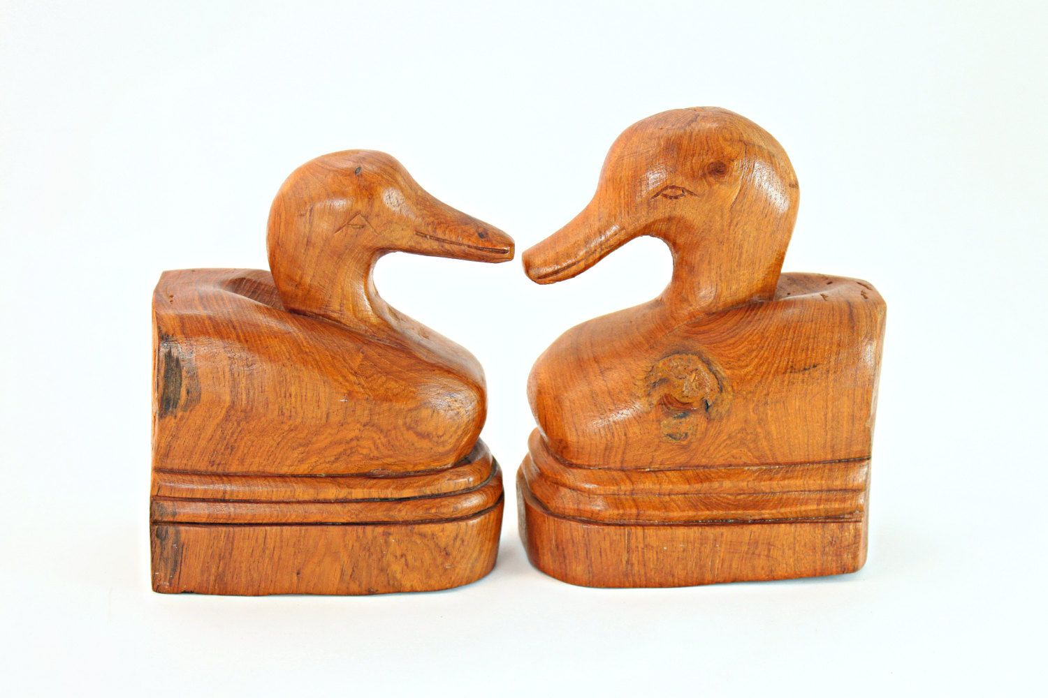 Vintage Wooden Duck Bookends, Norleans Wooden Duck Bookends, Wooden Duck Bookends, Wood Duck Bookend #etsy #vintage #etsygifts