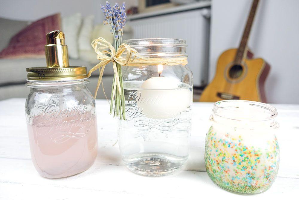 3 Mason Jar DIYs + Bonus!!!