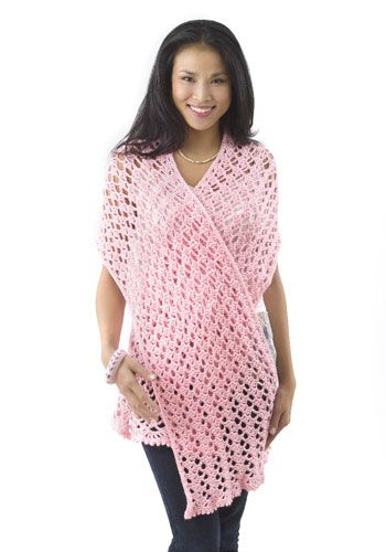 Crochet Patterns Galore Pink Ribbon Shawl Projects To Try
