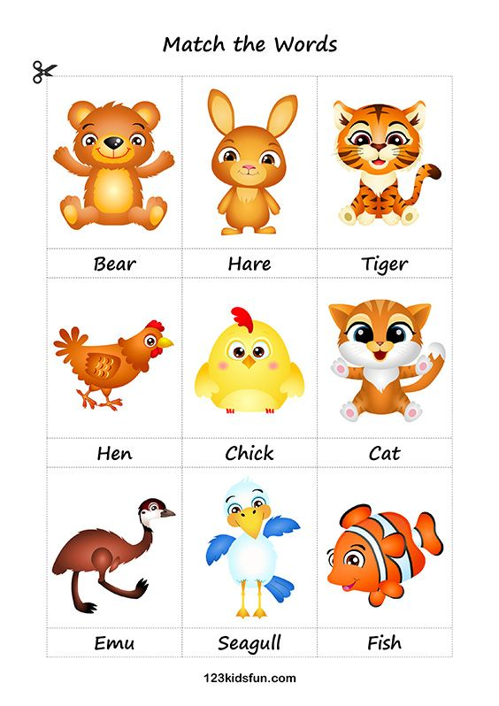 Free Printable Flashcards. Education for Kids. Animals. # ...