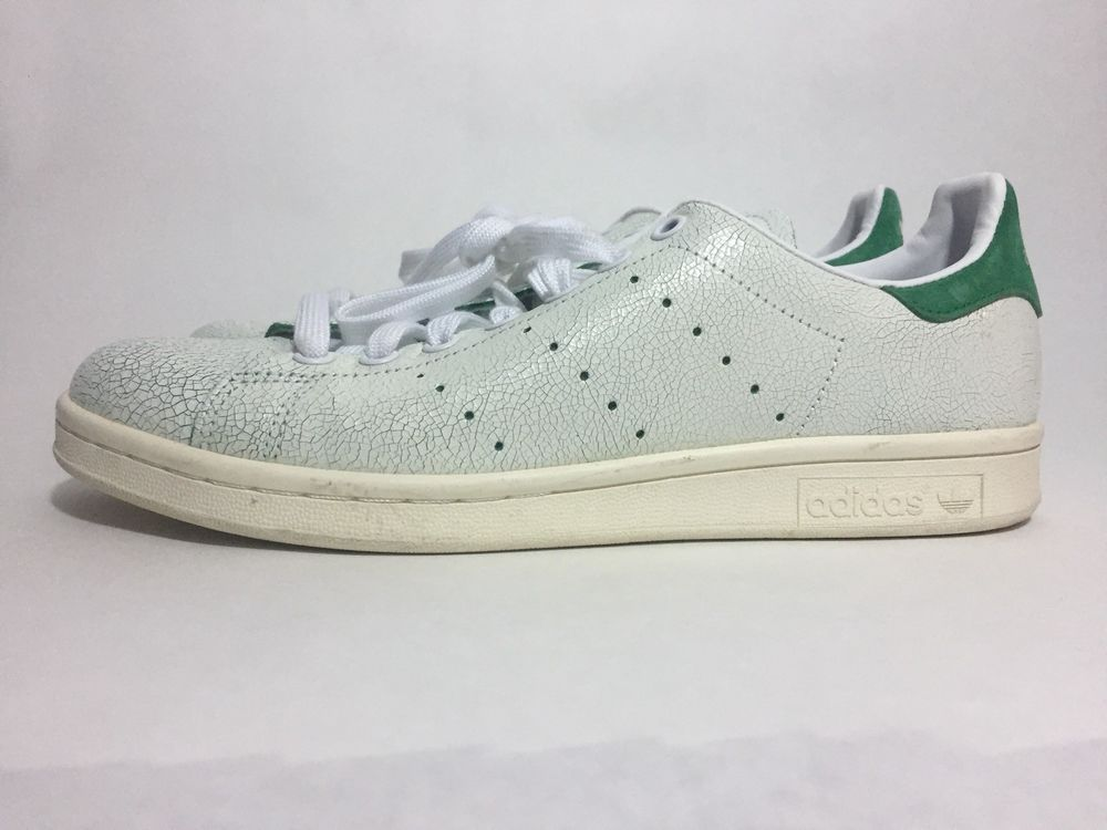 separation shoes 1f351 290a3 adidas Stan Smith Cracked Leather White Green Menâs Size 9