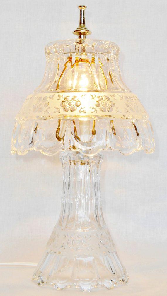 Vintage Bleikristall Anna Hutte 24 Lead Crystal Lamp Vintage Bleikristall Lamp Vintage Anna Hutte Vintage Lead Crystal Lamp Home Decor Crystal Lamp Lamp Lead Crystal