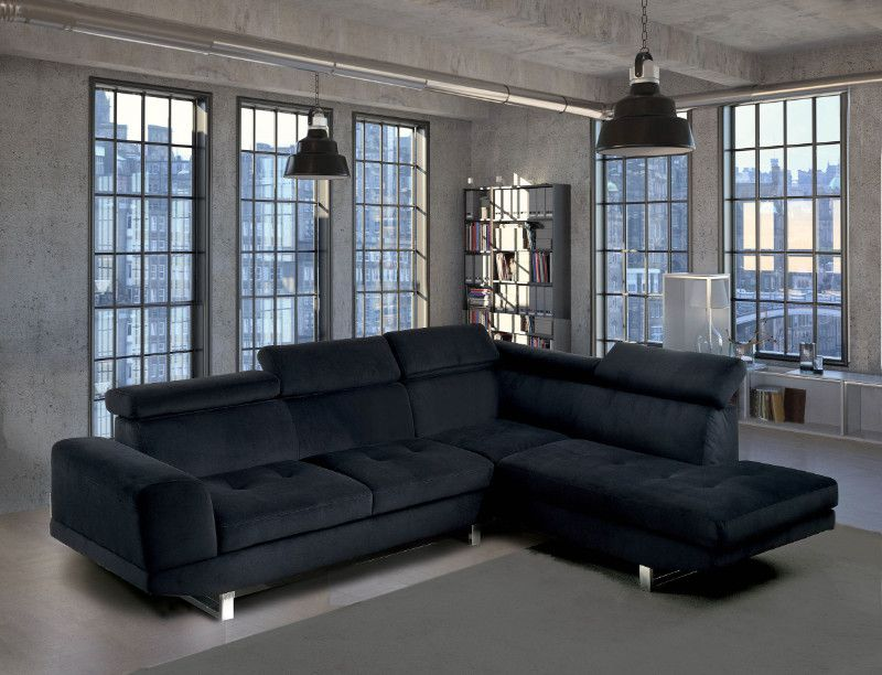 Groovy Cm6824 2 Pc Holt Black Bella Microfiber Sectional Sofa Creativecarmelina Interior Chair Design Creativecarmelinacom