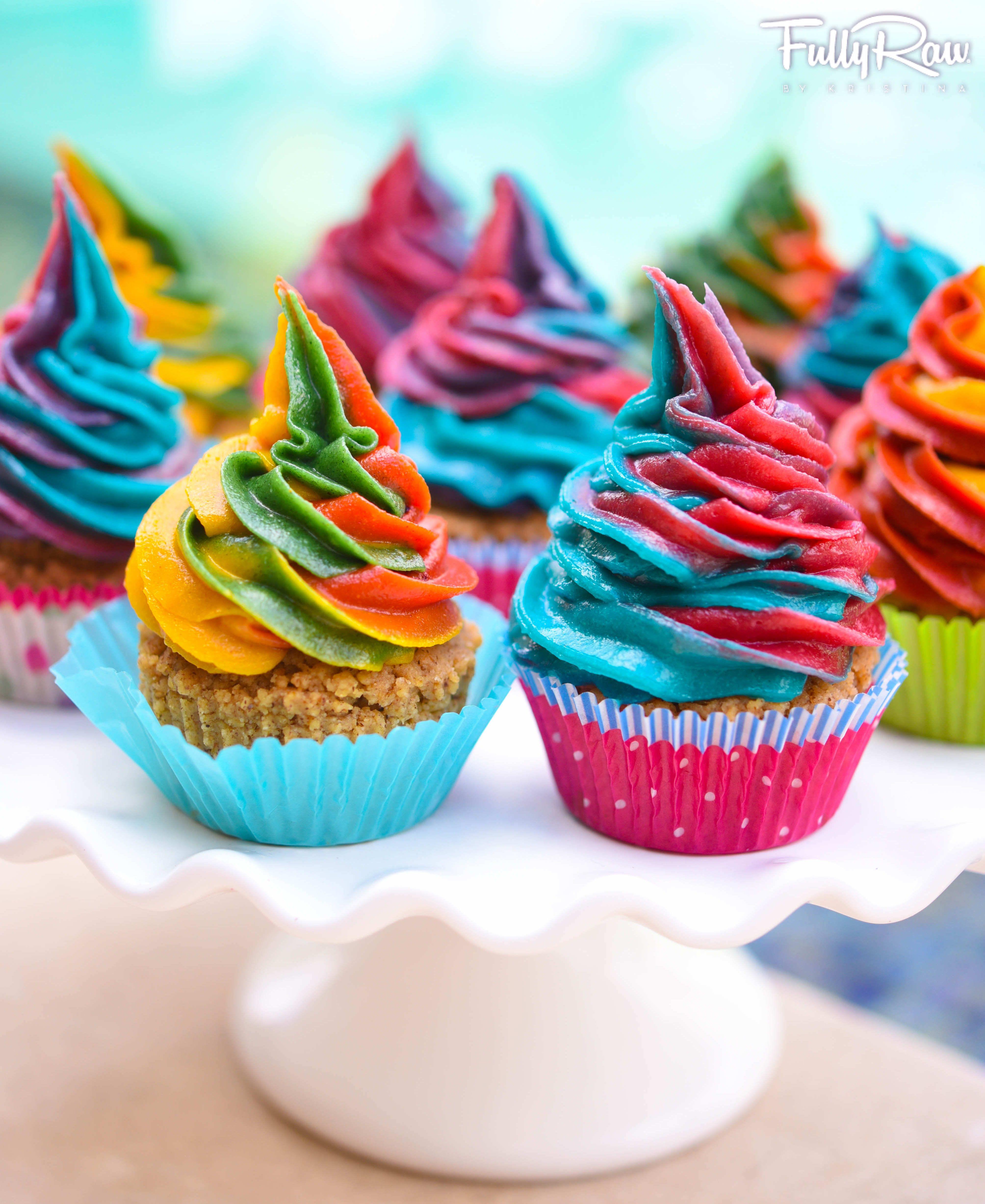 Raw Food Vegan FullyRaw Rainbow Unicorn Cupcakes! Dairy