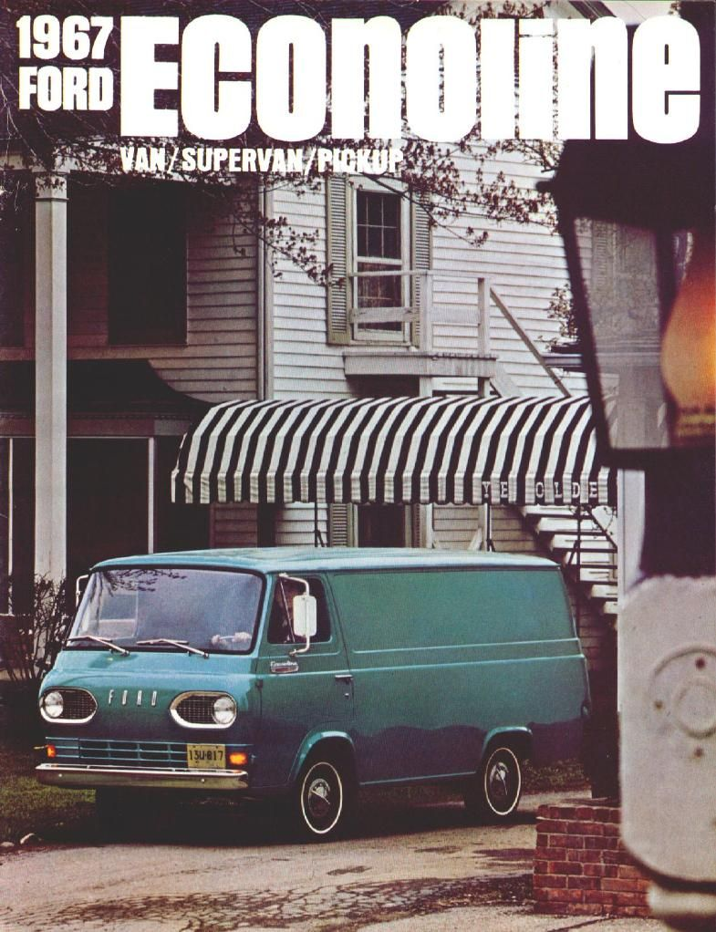 1967 Ford Econoline Van Brochure 01 Ford Car Advertising Car Ads