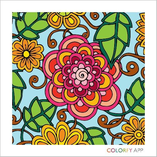 Pin By Shirley Hull On Colorfy Colorful Art Colorfy Artwork