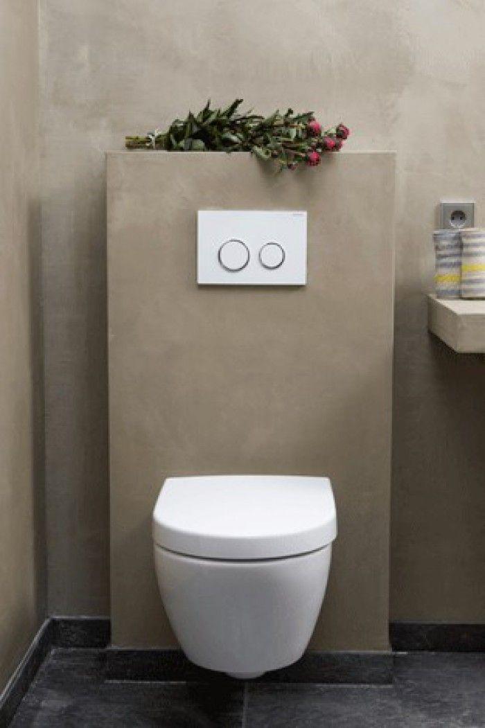Prachtige betonlook toiletruimte toilet pinterest toiletruimte en interieur - Doucheruimte idee ...
