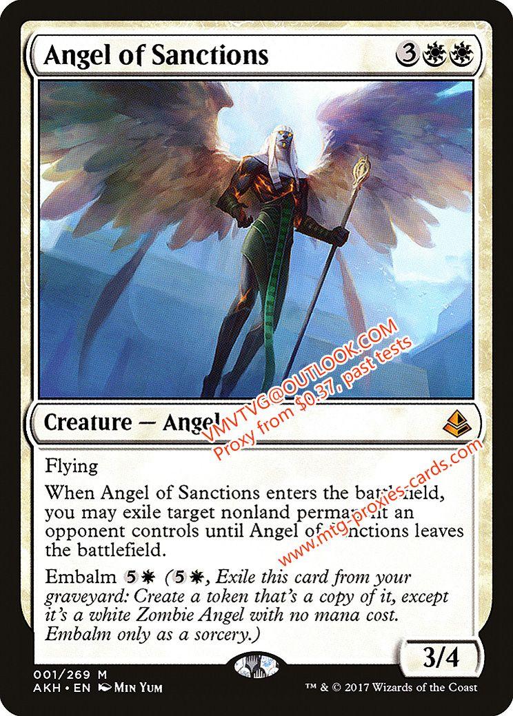 Angel of sanctionsxlhq magic the gathering quality