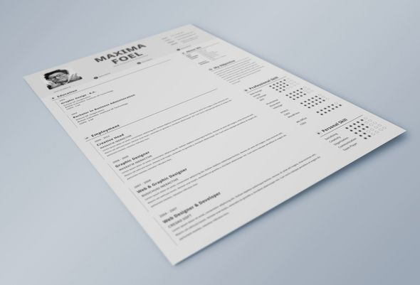 Free Download One Page Minimalist Resume Design Resume Design - one page resume template word