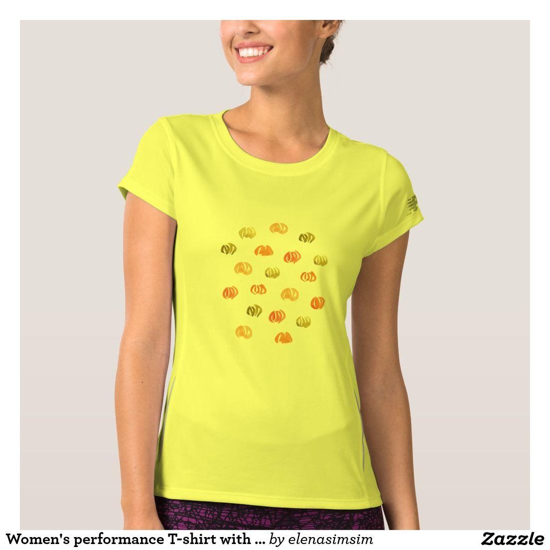 Women's performance T-shirt with pumpkins