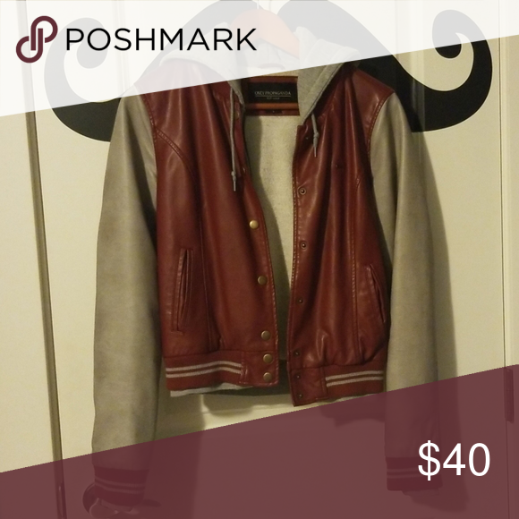 OBEY leather varsity jacket Red varsity jacket Obey Jackets & Coats #varsityjacketoutfit