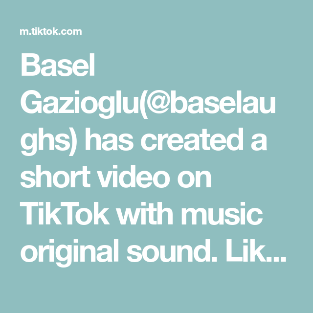 Basel Gazioglu Baselaughs Has Created A Short Video On Tiktok With Music Original Sound Like And Share For More My Hair Challenge The Originals Music Flower