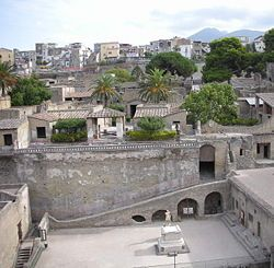 Herculaneum destroyed by an eruption of Mt. Vesuvius in AD 79, I want to go to the ruins
