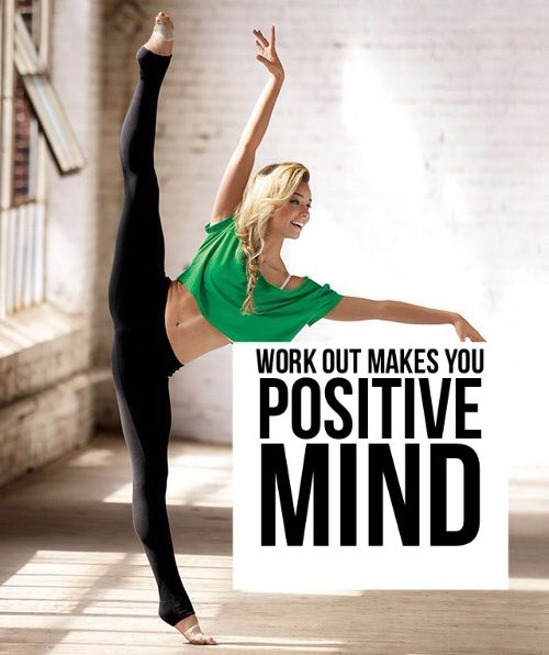 Working Out: Work Out Makes You Positive Quotes Fitness Exercise Work