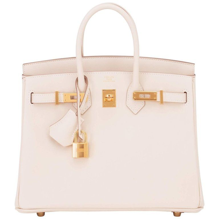 c8fdae31cfd Hermes Craie 25cm Off White Swift Gold Hardware A Stamp Baby Birkin Bag For  Sale