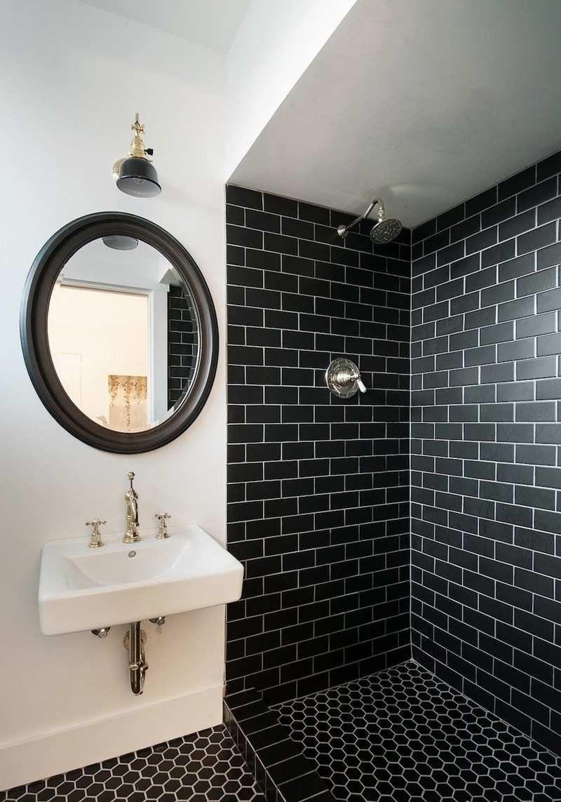 Modèle carrelage salle de bain noir et blanc- 25 décors où respire ...