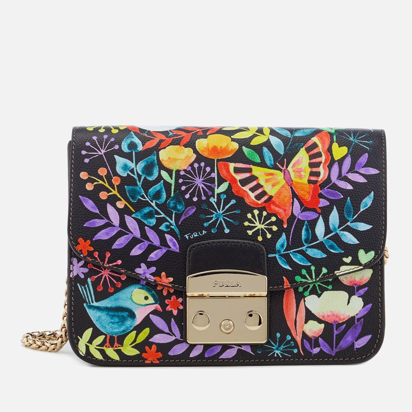 purchase Woman crossbody bag Furla Real mini black and