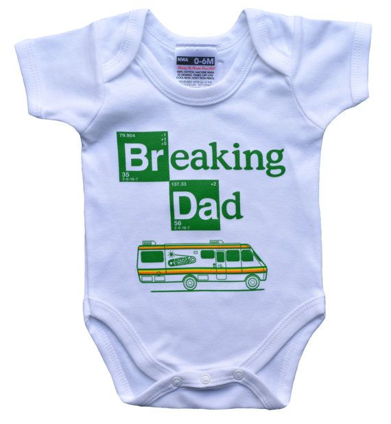 b765403b Breaking Dad babygrow (onesie) for Breaking Bad Baby | BABY CLOTHES ...