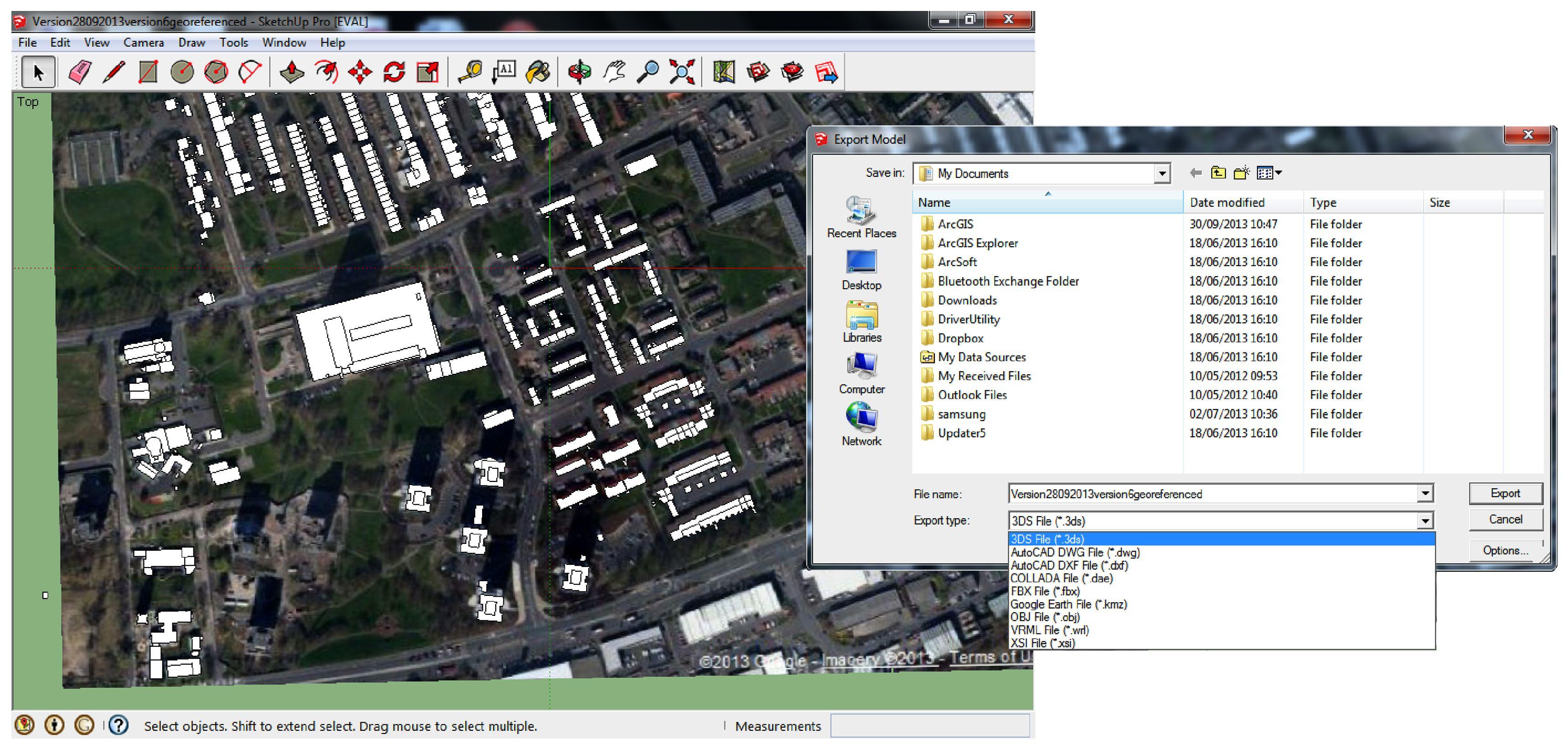 Sketchup Pro Export Files Visual Screenshots Energy