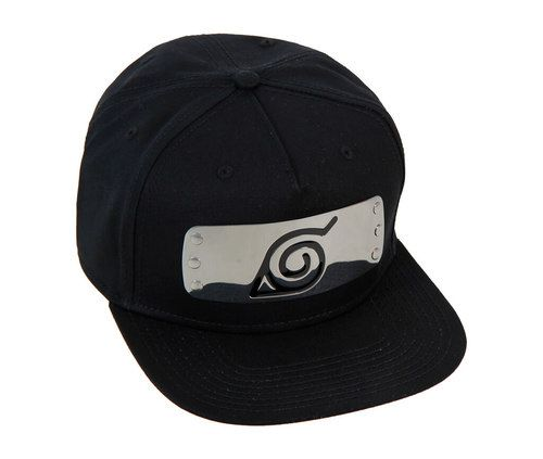 Buy Naruto Shippuden Metal Plate Leaf Village Symbol Black Snapback Hat at  TVStoreOnline.com Officially Licensed Japanese Anime Naruto Shippuden  Merchandise ... 4ac01449942
