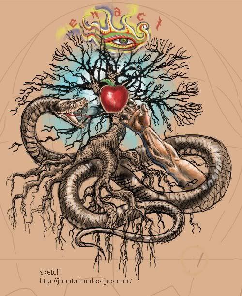 Garden Of Eden Snake Tattoo Pin garden of eden tattoo