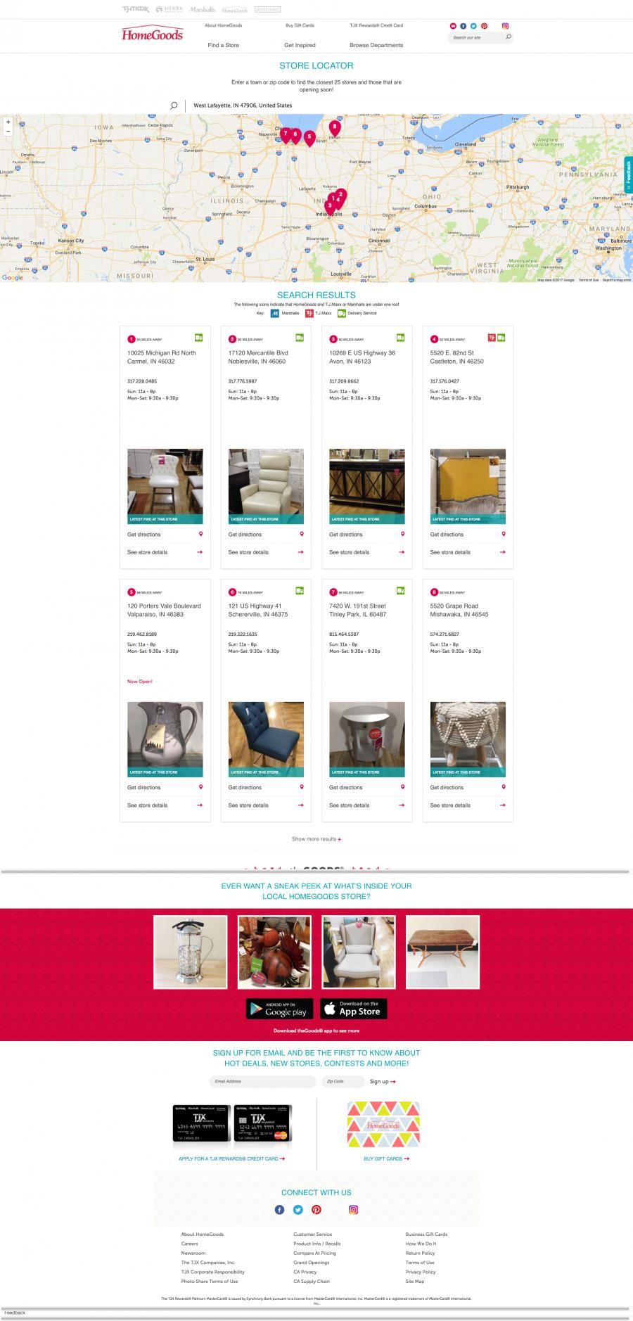 Home Goods Store Locations Map Design In 2020 Home Goods Store Location Map Map Design