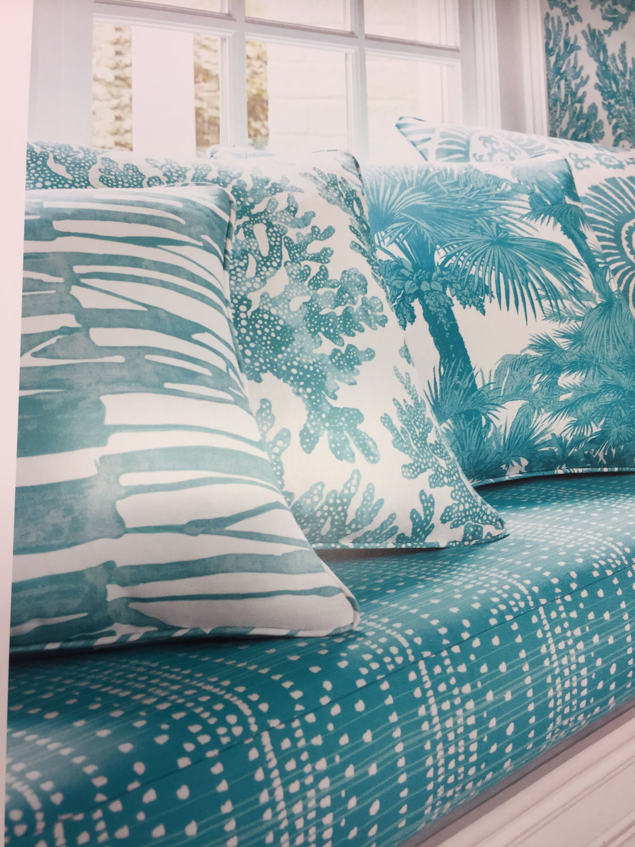 Teal and more! wallpaper and matching fabrics.Always visit a local independent design company