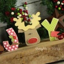 Joy Letters {with Rudolph}