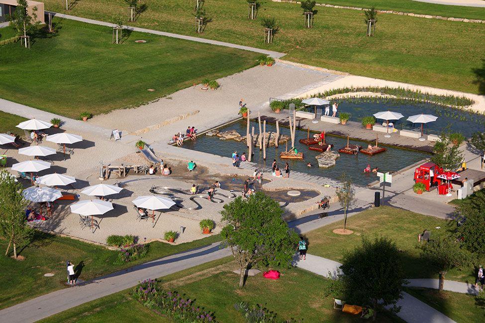 Landscape Park Wetzgau Atelier Dreiseitl 03 Landscape Architecture Works Playground Design Plan Landscape Playground Design