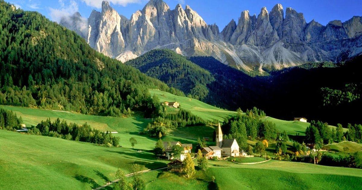 Pemandangan Alam Pegunungan Terindah Dengan Gambar Pemandangan Bepergian Wisata Italia