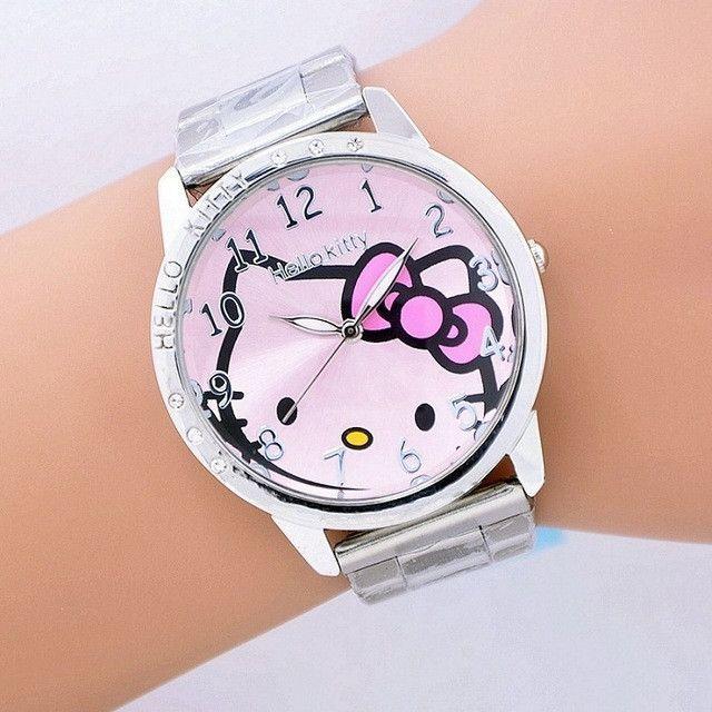 ae1586b12 2016 hot sales Fashion Women stainless steel Watch Girls Hello Kitty quartz  Watch for Cartoon Watches 1pcs