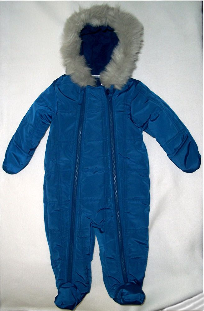 7df23abeb New Babies R Us Royal Blue Quilted Snowsuit Pants Hood Baby Boy 6 9 months  NWT #BabiesRUs #Snowsuit #Everyday