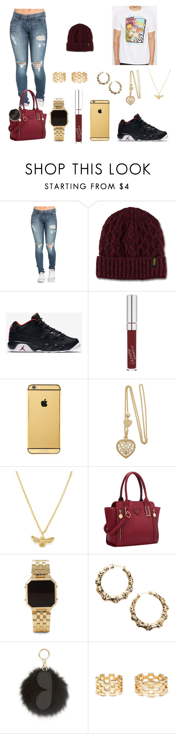 """""""Rugrats"""" by imanifashions ❤ liked on Polyvore featuring Dr. Martens, NIKE, Goldgenie, Estella Bartlett, Forever 21 and MICHAEL Michael Kors"""