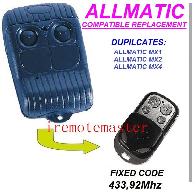 Top Quality For Allmatic Aemx1 Aemx2 Aemx4 Replacement Remote