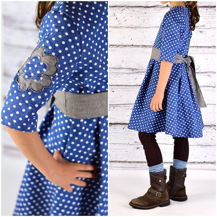 Ebook Schnittmuster Kleid mit Schärpe alltagstaugliches Jeanskleid (+ Bubikragen als kostenloses Schnittmuster)