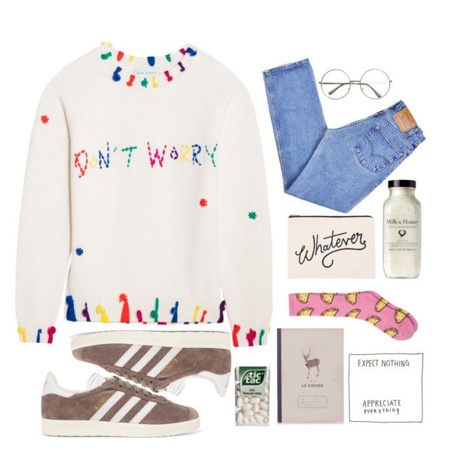"""N•66"" by nemo-philist ❤ liked on Polyvore featuring adidas Originals, Levi's, Mira Mikati, Katy & June and ALPHABET BAGS"