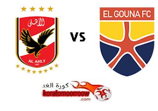 موعد مباراة الأهلي والجونة القادمة الدوري المصري والقنوات الناقلة