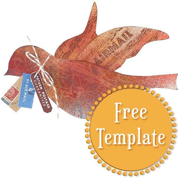 Bird Template - Stampington | Birds and Butterflies | Bird ...
