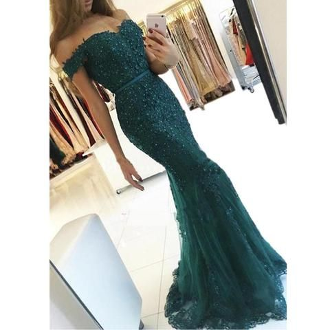 4843bb7ab86 charming elegant lace beaded off shoulder mermaid long prom dress ...